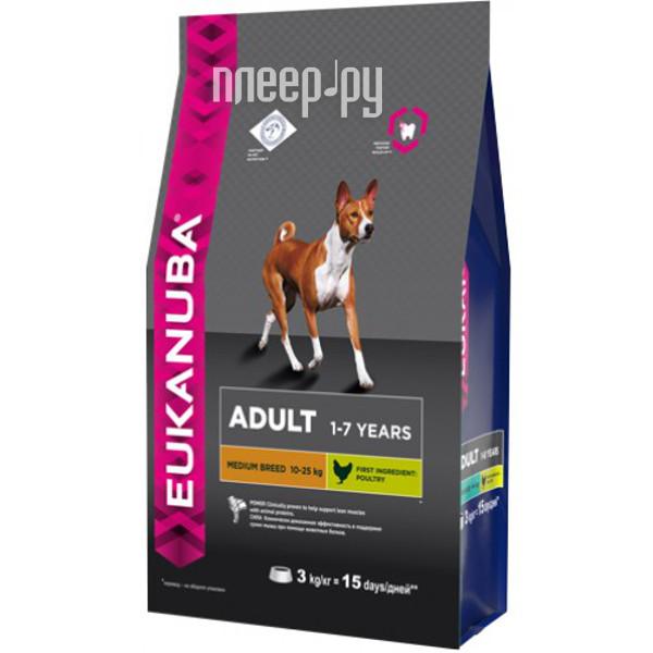 Корм Eukanuba Medium Breed Adult 3kg для собак 10137714 01088 / 2507
