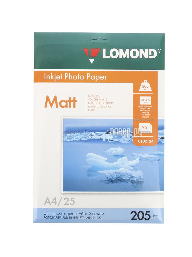 Фотобумага Lomond 0102124 матовая 205g / m2 A4 односторонняя 25 листов