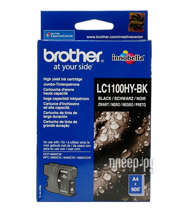 Картридж Brother LC1100HYBK Black для DCP-6690CW / MFC-5890CN / MFC-5895CW / MFC-6490CW / MFC-6890CDW