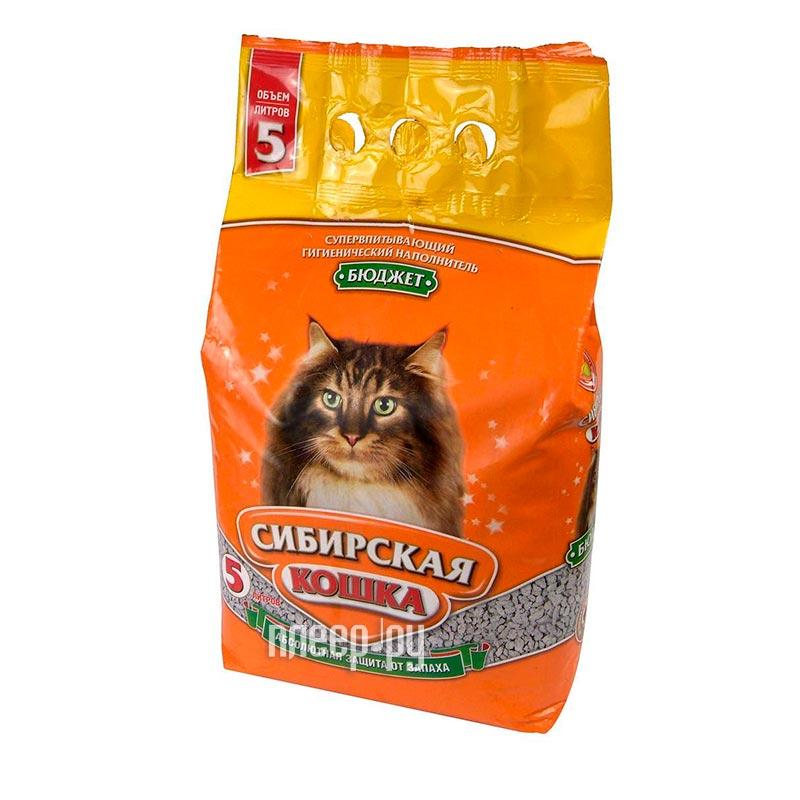 Наполнитель Сибирская Кошка Бюджет 5l 0114