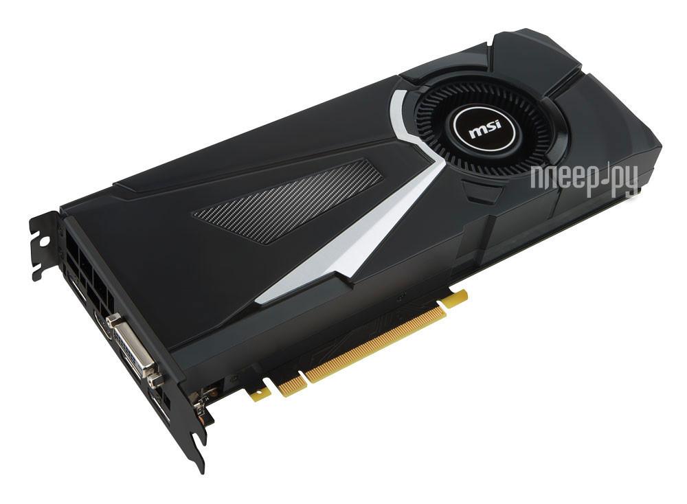 Видеокарта MSI GeForce GTX 1070 1531Mhz PCI-E 3.0 8192Mb 8008Mhz 256 bit DVI HDMI HDCP GTX 1070 AERO 8G OC