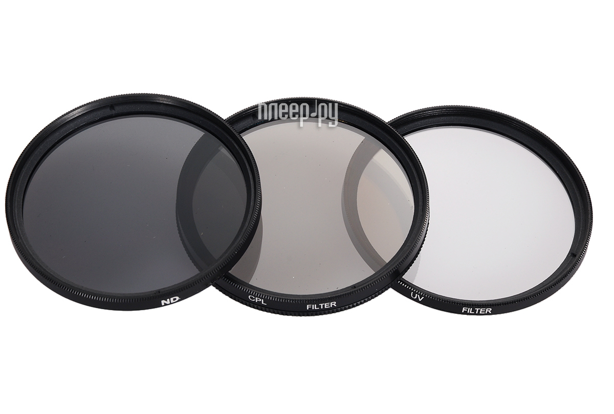 Светофильтр Polaroid UV-CPL-ND8 49mm - набор фильтров PL3FILND49