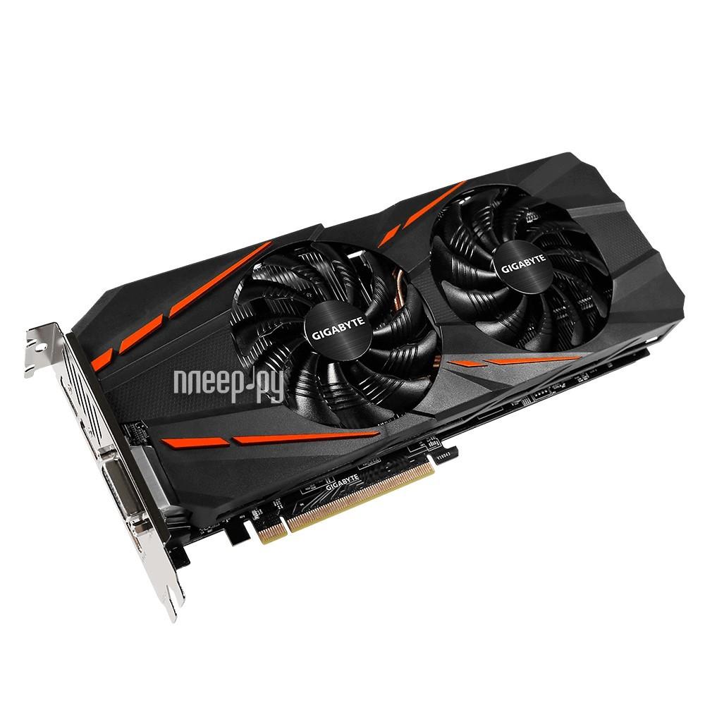 Видеокарта GigaByte GeForce GTX 1060 1620Mhz PCI-E 3.0 6144Mb 8008Mhz 192 bit DVI HDMI HDCP GV-N1060G1 GAMING-6GD