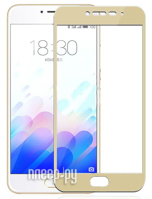 Аксессуар Защитное стекло Meizu M3 Note CaseGuru Full Screen 0.3mm Gold 87015