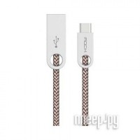 Аксессуар ROCK USB to Type-C Cobblestone Round RCB0440 Light Coffee