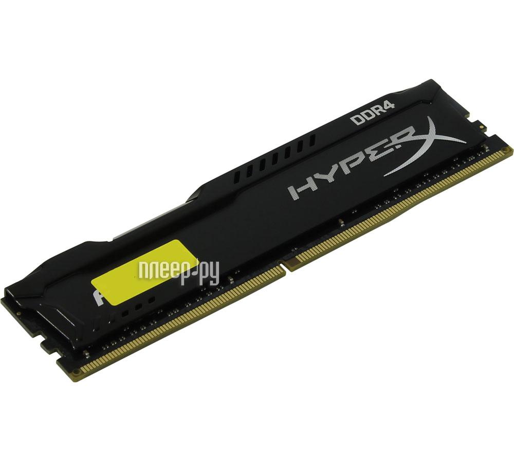 Модуль памяти Kingston HyperX Fury DDR4 DIMM 2400MHz PC4-19200 CL15 - 16Gb HX424C15FB/16