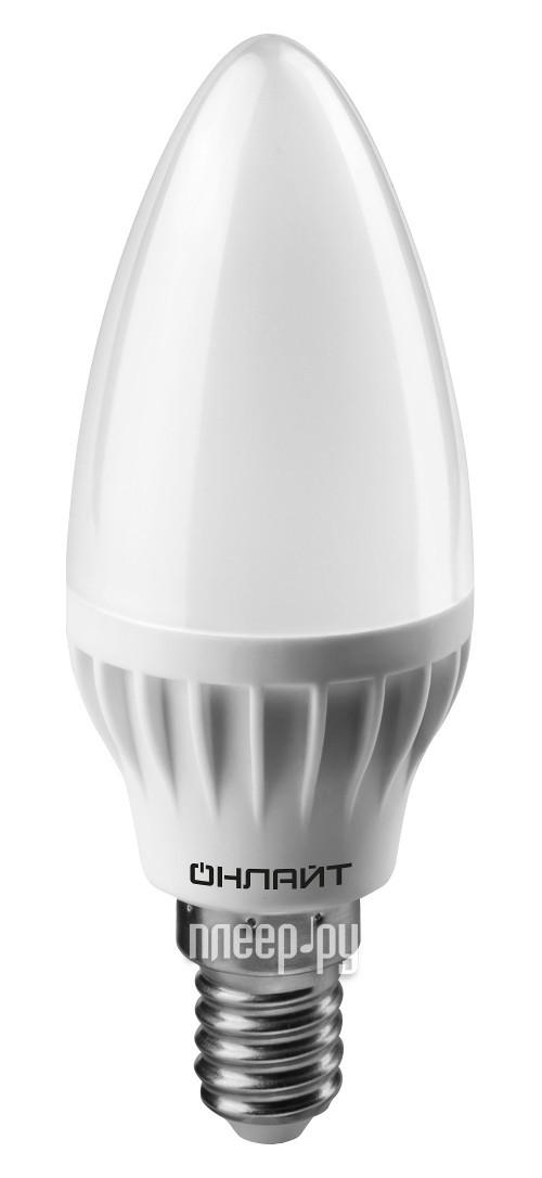 Лампочка ОнЛайт 71 633 OLL-C37-8-230-4K-E14-FR