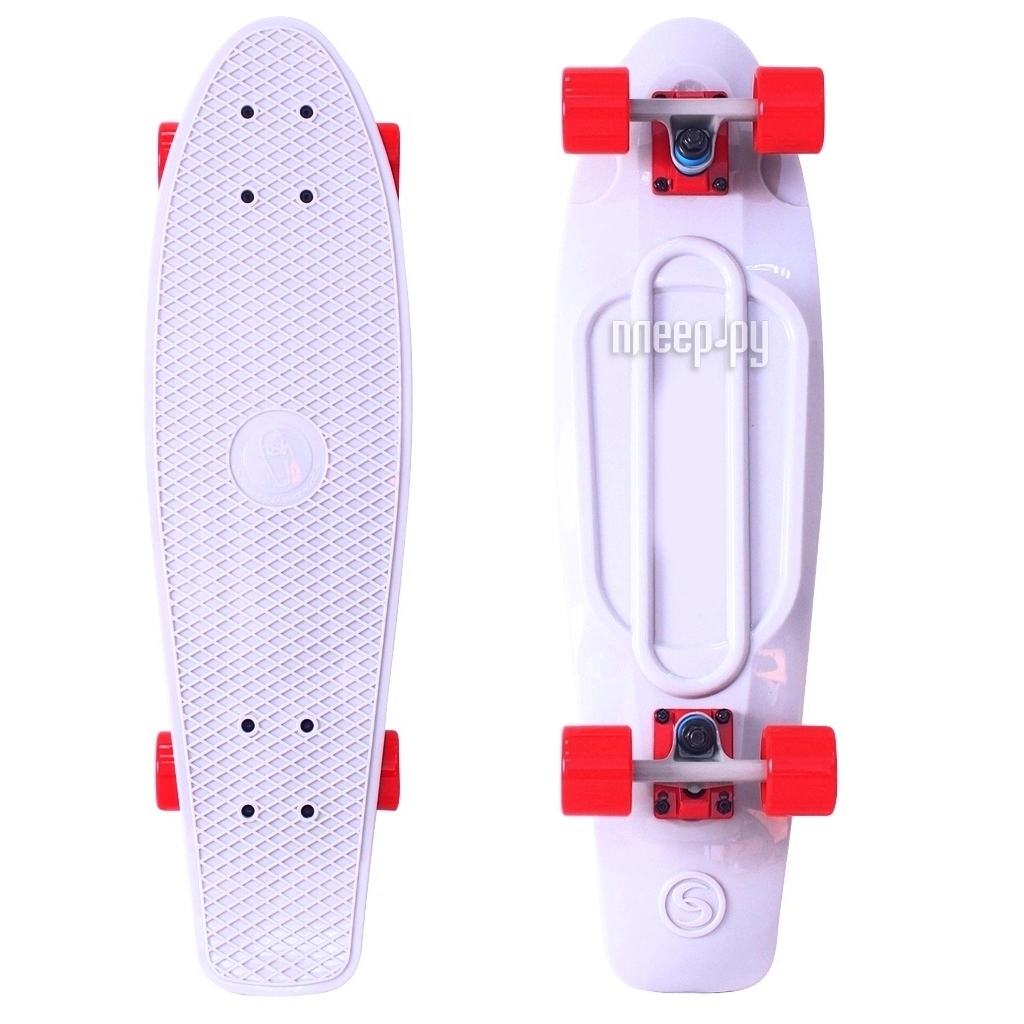 Скейт Y-SCOO Big Fishskateboard 27 White-Red 402-W