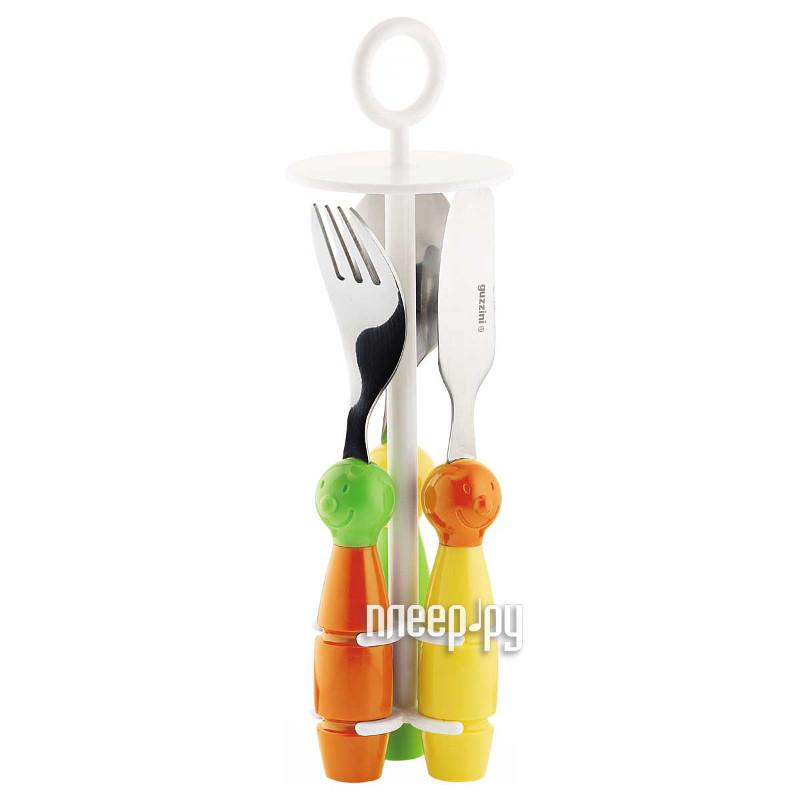 Кухонная принадлежность Guzzini - набор столовых приборов Orange-Green 7500052