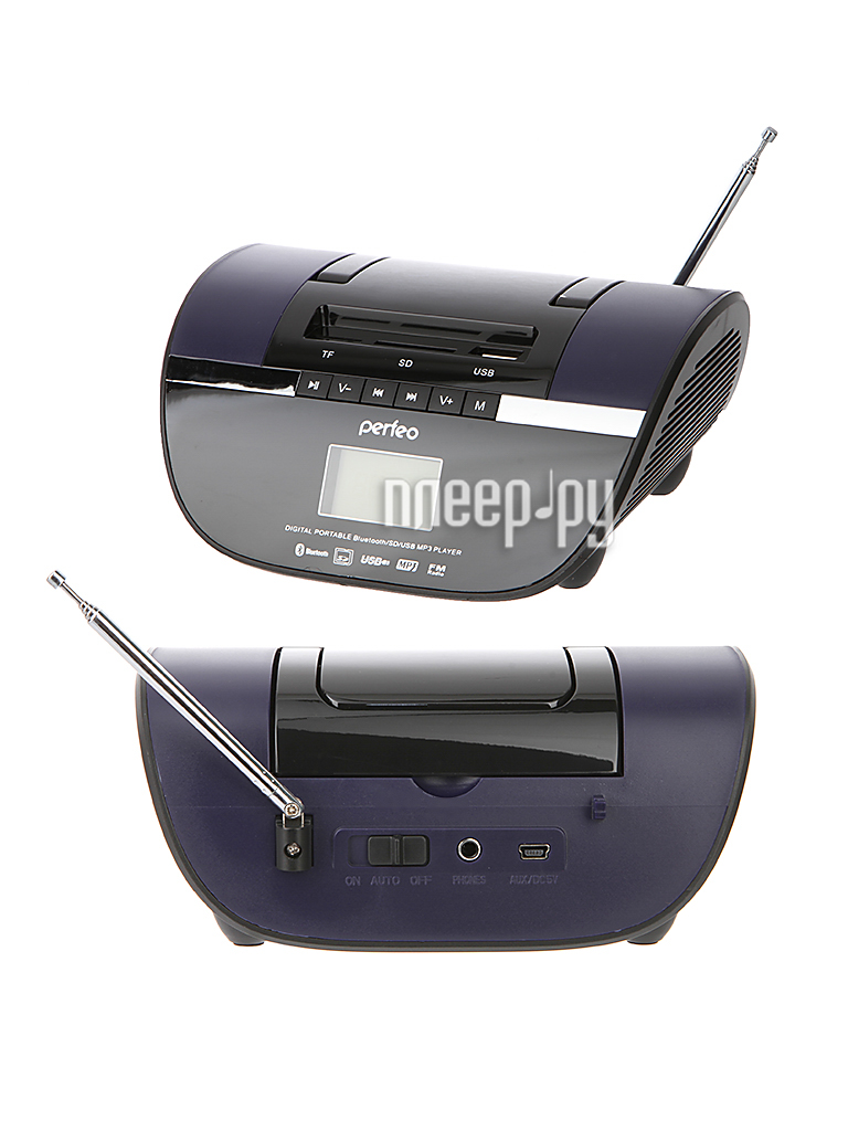 Радиоприемник Perfeo Stilius Black-Purple i350PRO-PR