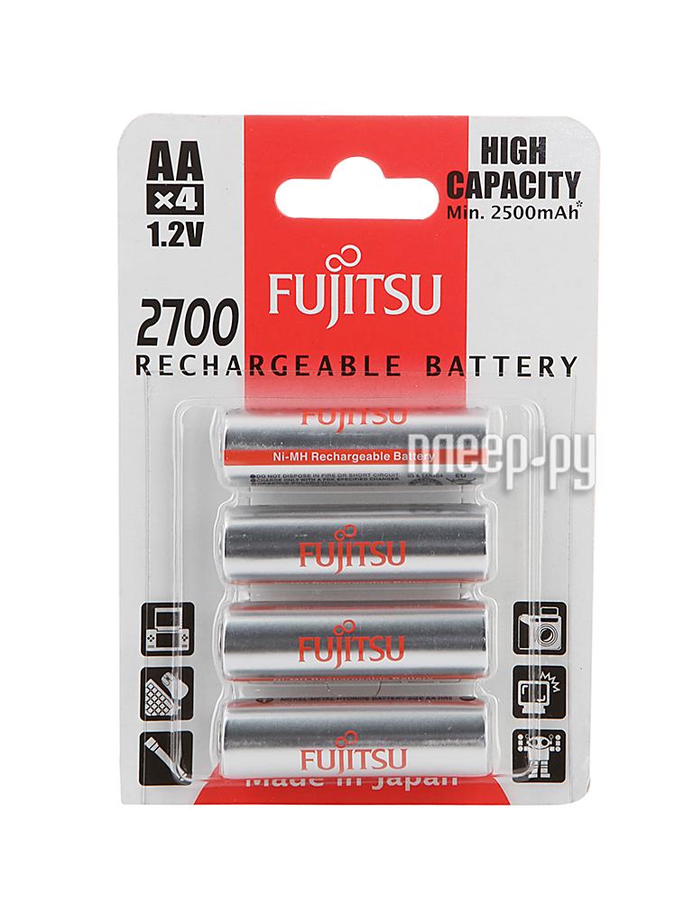 Аккумулятор AA - Fujitsu HR-3UAEU (4B) 2700 mAh (4 штуки) 84435