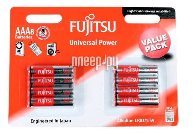Батарейка AAA - Fujitsu LR03(8B)FU-W-FI 84085 (8 штук)