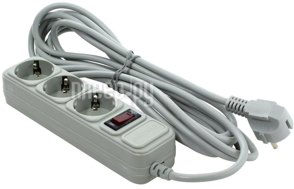 Сетевой фильтр ExeGate SP-3-5G 5m Grey 221183