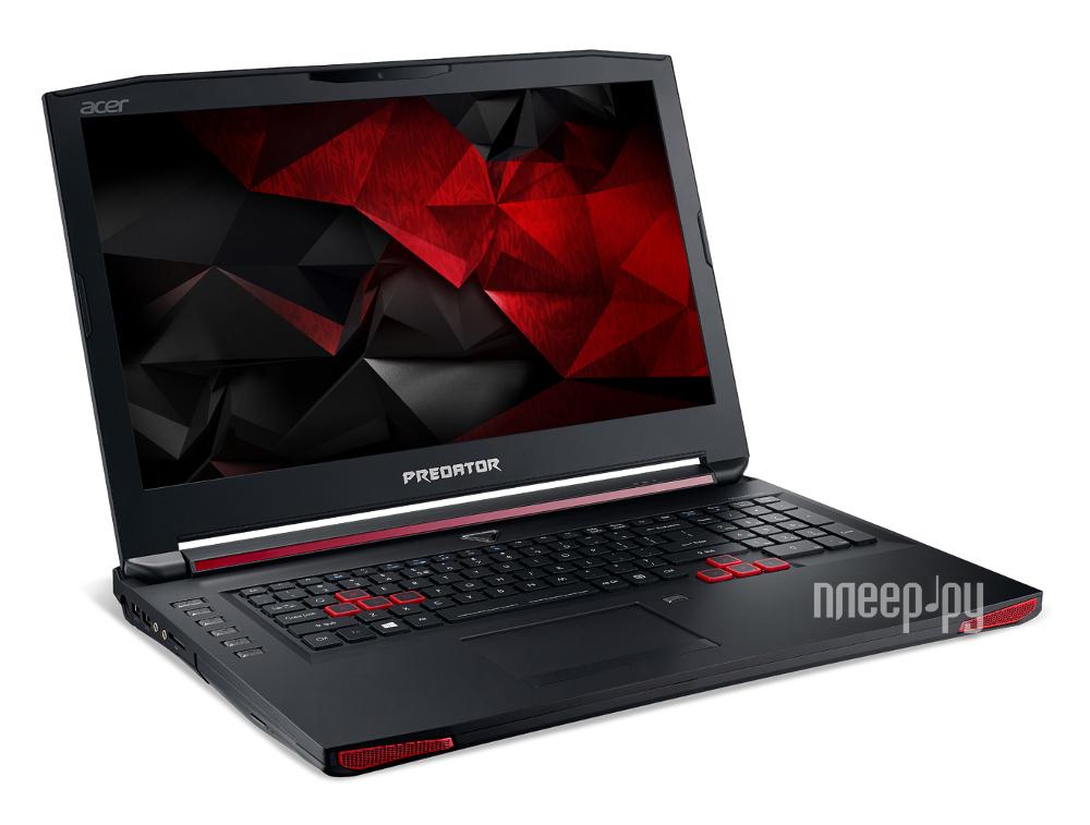 Ноутбук Acer Predator G9-792-52V8 NH.Q0PER.008 (Intel Core i5-6300HQ 2.3 GHz / 16384Mb / 1000Gb + 128Gb SSD / DVD-RW / nVidia GeForce GTX 980M 8192Mb / Wi-Fi / Cam / 17.3 / 1920x1080 / Windows 10 64-bit)