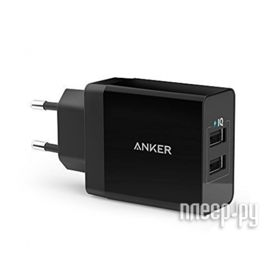 Зарядное устройство Anker 2xUSB 2.4A A2021311 Black