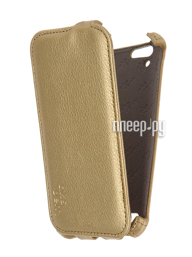 Аксессуар Чехол Lenovo A6020 Vibe K5 / K5 Plus Aksberry Gold
