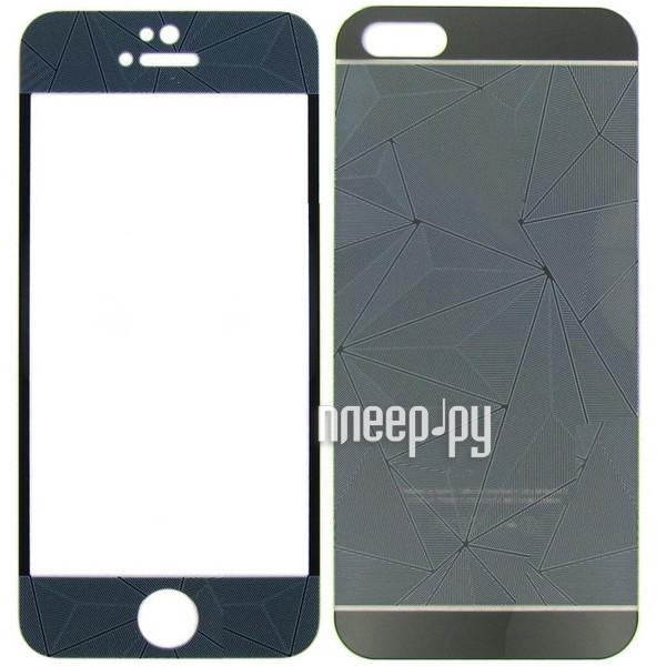 Аксессуар Защитное стекло Krutoff Front & Back для iPhone 6 / 6S 3D Black 21660