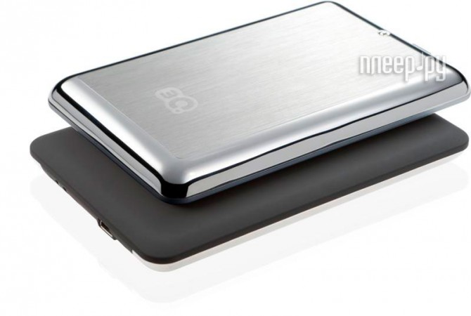 Жесткий диск 3Q Glaze Rubber Hairline 500Gb Black 3QHDD-U247H-HB500  Pleer.ru  1964.000