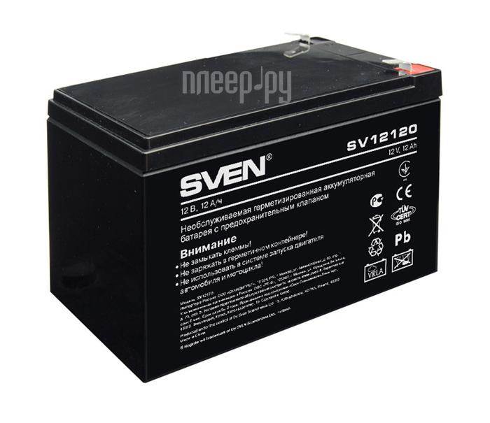 Аккумулятор для ИБП Sven SV12120 12V 12Ah SV-0222012