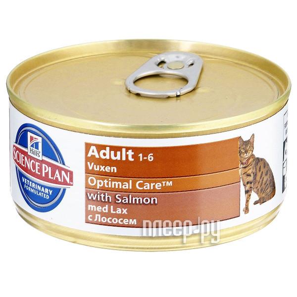 Корм Hills Science Plan Optimal Care Adult Лосось 85g для кошек 4535 купить