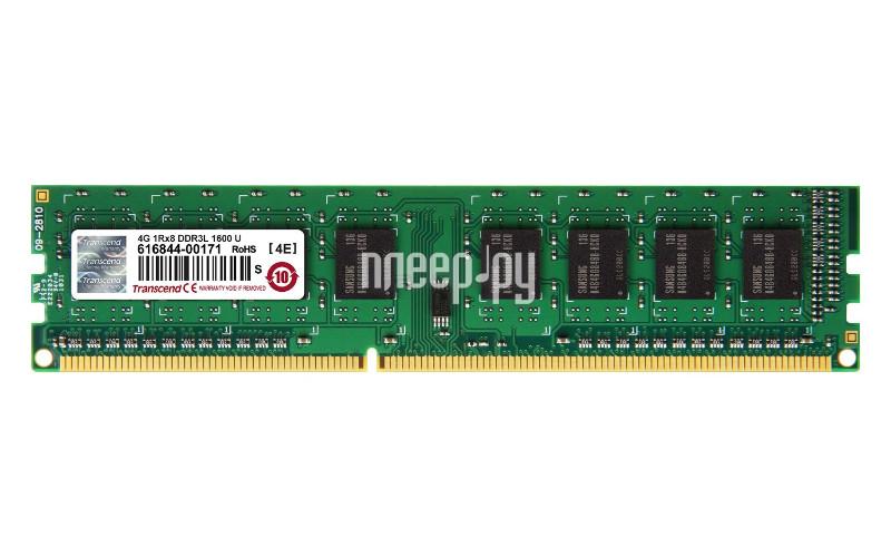 Модуль памяти Transcend DDR3L DIMM 1600MHz PC3-12800 CL11 - 4Gb TS512MLK64W6H