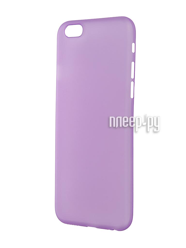 Аксессуар Чехол-накладка BROSCO Superslim для iPhone 6 / 6S Purple IP6-PP-SUPERSLIM-PURPLE