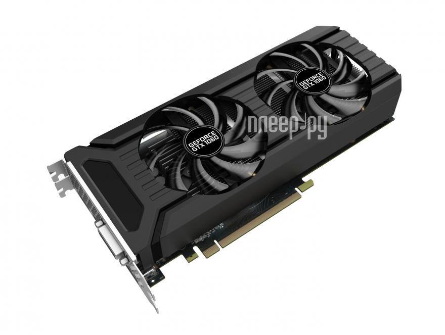 Видеокарта Palit GeForce GTX 1060 Super Jetstream 1594Mhz PCI-E 3.0 3072Mb 8000Mhz 192 bit DVI HDMI HDCP NE51060S15F9-1060J