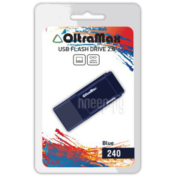 USB Flash Drive 64Gb - OltraMax 240 Blue OM-64GB-240-Blue