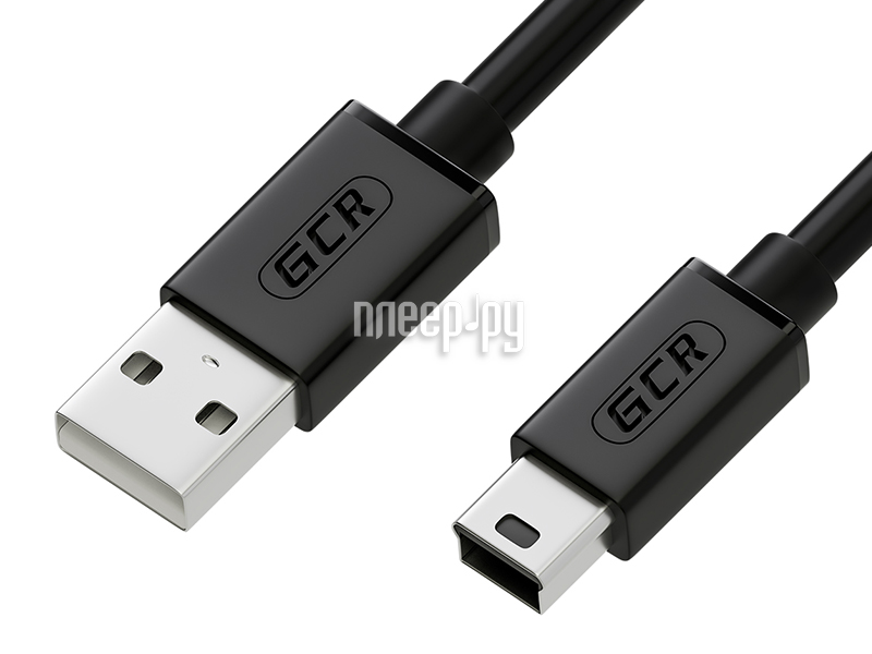 Аксессуар Greenconnect USB 2.0 AM-mini 5pin 1.8m Black GCR-UM2M5P-BB2S-1.8m