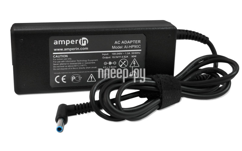 Блок питания Amperin AI-HP90C для HP Pavilion 15-e 15-n Series HP 19.5V 4.62A 4.5x3.0mm 90W