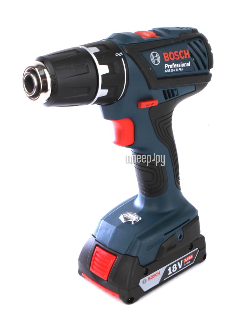 Электроинструмент Bosch GSR 18-2-Li Plus 2.0Ah x2 Case 06019E6120 / 06019E6104