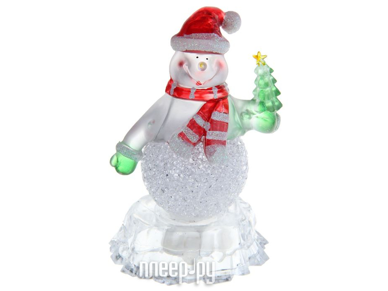 Новогодний сувенир Luazon Снеговик на льдине с елкой RGB 1077358