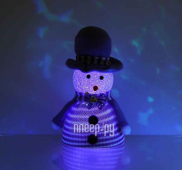 Новогодний сувенир Luazon Снеговик в шляпе Violet 1077509