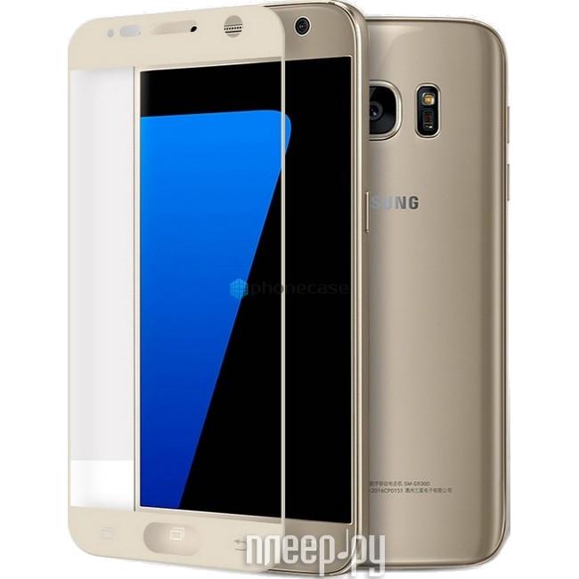 Аксессуар Защитное стекло Samsung Galaxy S7 AUZER 3D Gold AG3-SS7GD