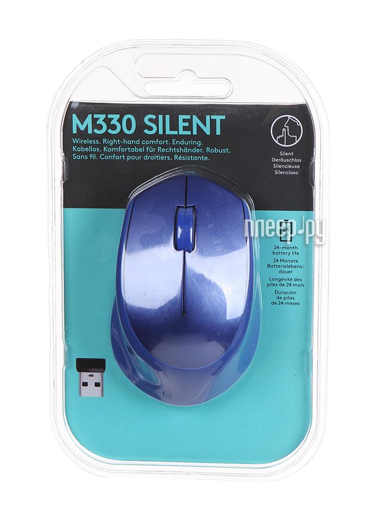 Мышь Logitech M330 Silent Plus Blue 910-004910