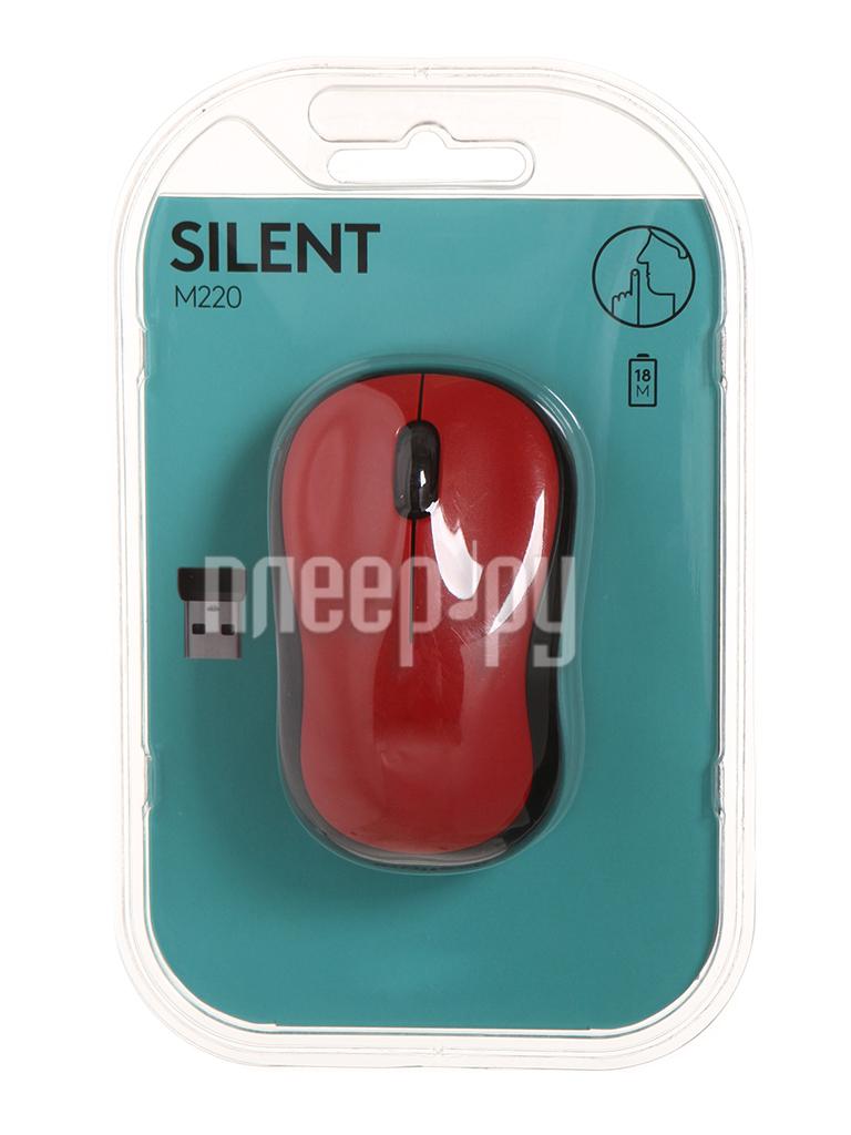 Мышь Logitech M220 Silent Red 910-004880 за 1094 рублей