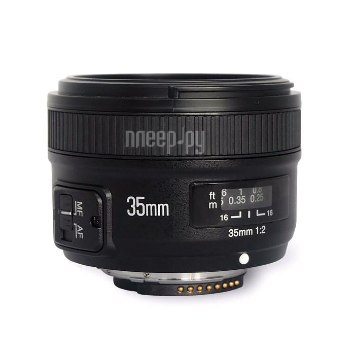 Объектив YongNuo Nikon F AF 35 mm F/2