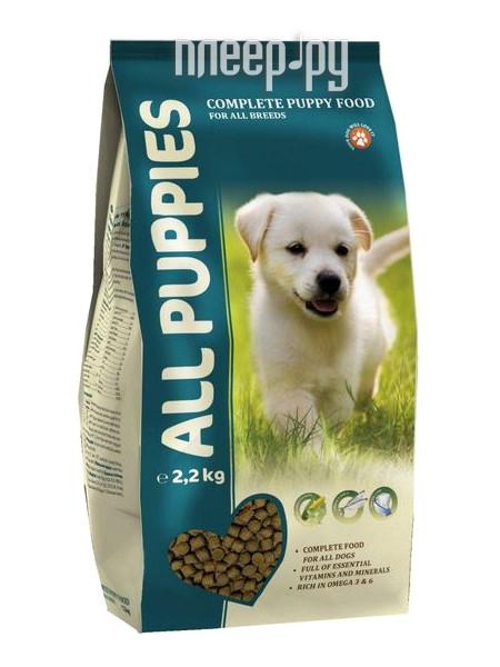 Корм ALL PUPPIES 2.2kg полнорационный для щенков 6752