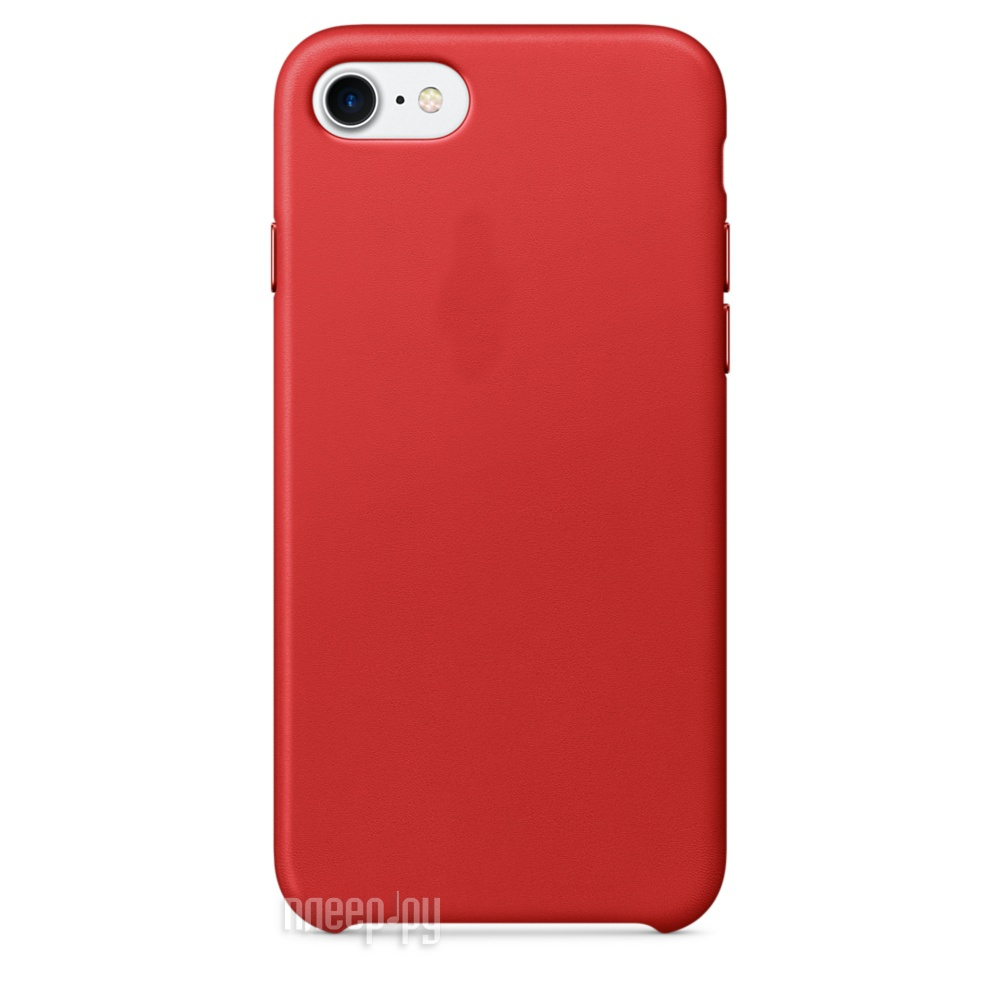 Аксессуар Чехол APPLE iPhone 7 Leather Case Product Red MMY62ZM / A