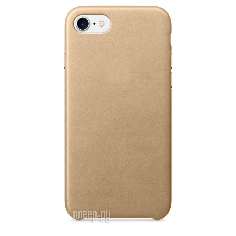 Аксессуар Чехол APPLE iPhone 7 Leather Case Tan MMY72ZM / A