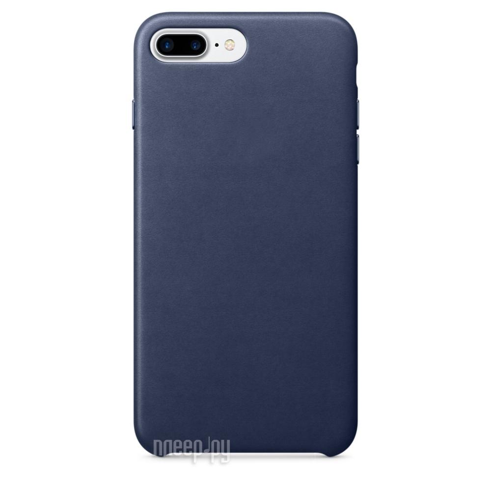 Аксессуар Чехол APPLE iPhone 7 Plus Leather Case Midnight Blue MMYG2ZM / A