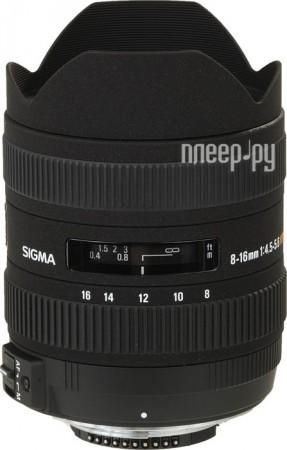 Объектив Sigma AF 8-16mm f/4.5-5.6 DC HSM Canon EF-S  Pleer.ru  24067.000