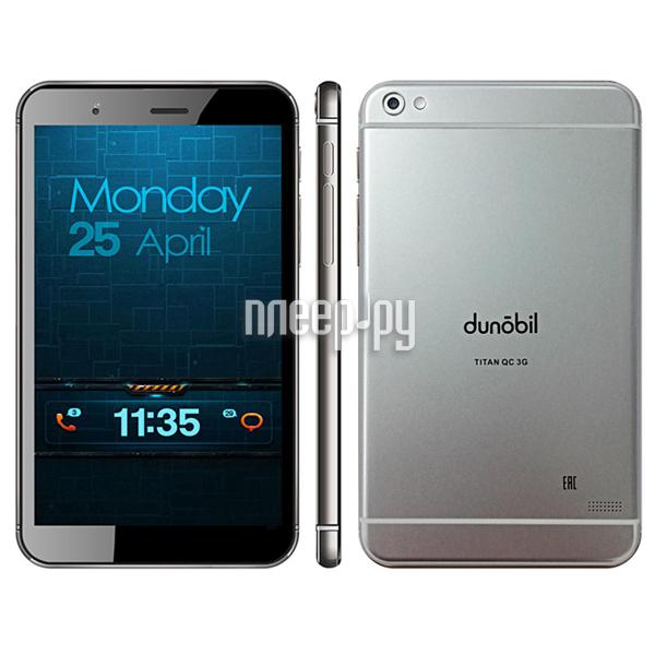Планшет Dunobil Titan QC 3G (MediaTek MT8321 1.3 GHz / 1024Mb / 8Gb / Wi-Fi / Bluetooth / Cam / 7.0 / 1280x800 / Android)