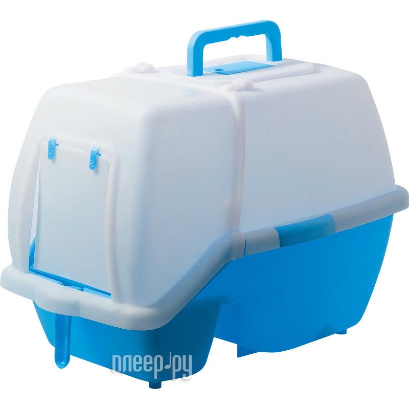 Туалет V.I.Pet для кошек 60x42x45cm Blue P191-05
