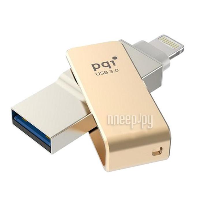 USB Flash Drive 32Gb - PQI iConnect mini Gold 6I04-032GR2001
