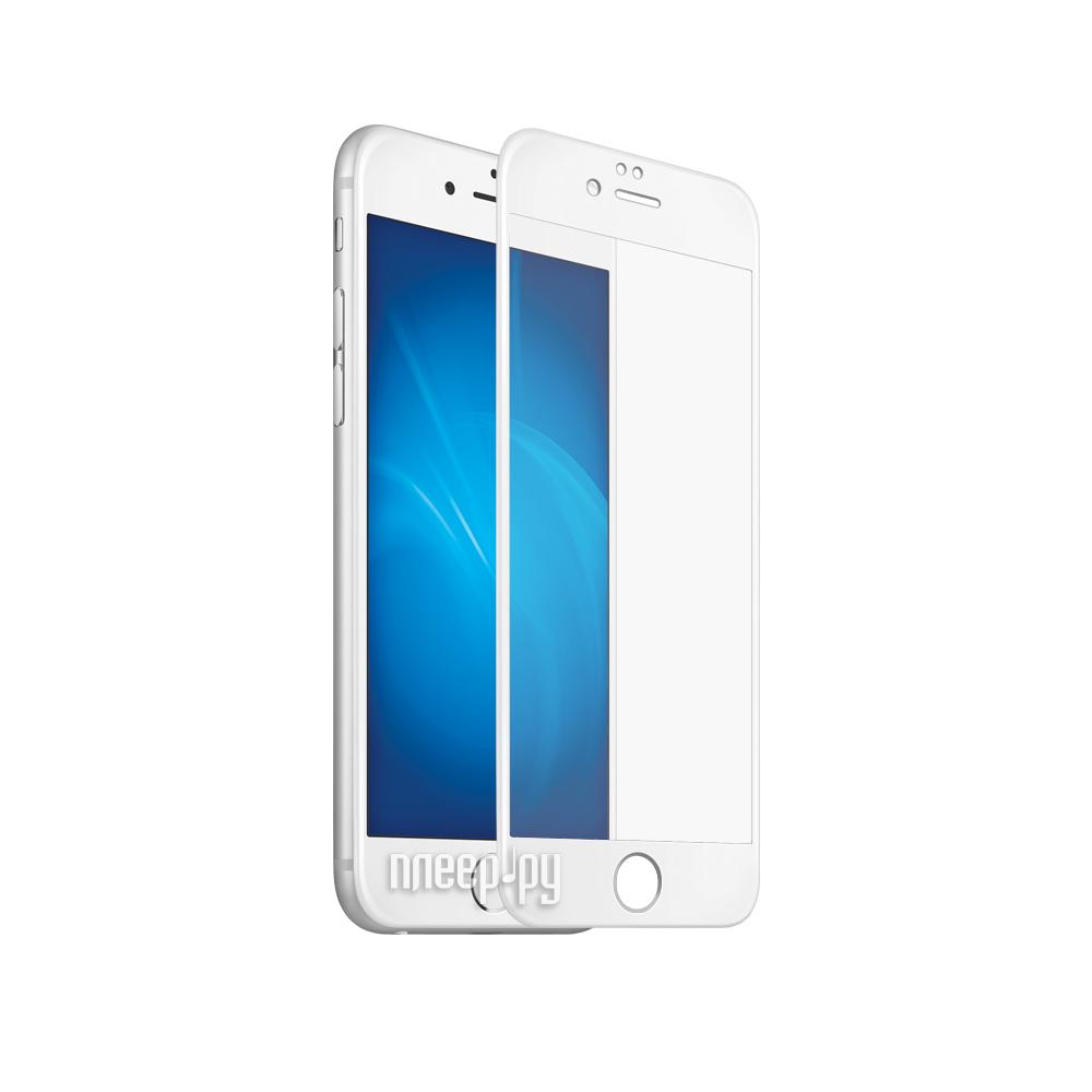 Аксессуар Закаленное стекло DF Fullscreen 3D для APPLE iPhone 7 iColor-09 White