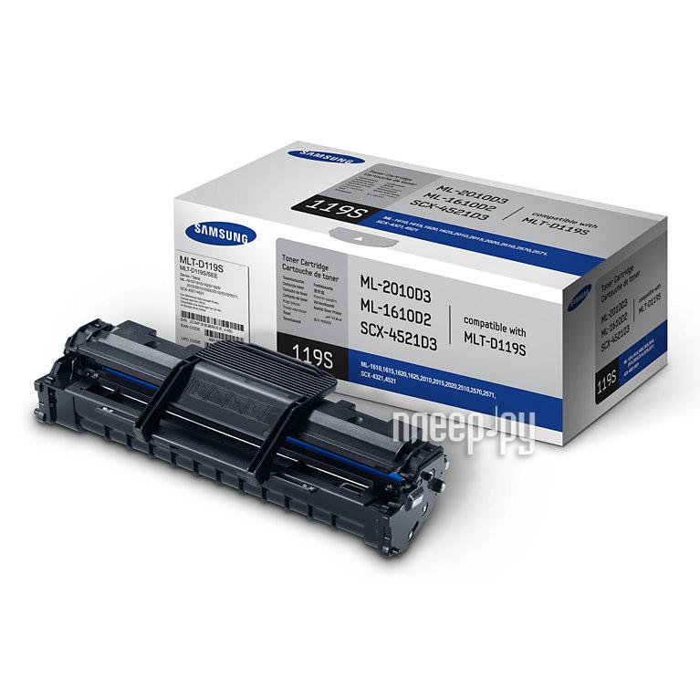 Картридж Samsung MLT-D119S для ML-1610 / 1615 / 1620 / 1625 / 2010 / 2015 / 2020 / 2510 / 2570 / 2571 / SCX-4321 / 4521 Black
