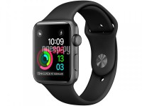 Умные часы APPLE Watch 42mm Space Grey Aluminium Case with Black Sport Band MP032RU/A