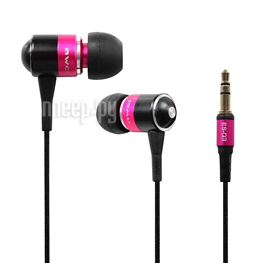 Наушники Awei ES-Q3 Pink