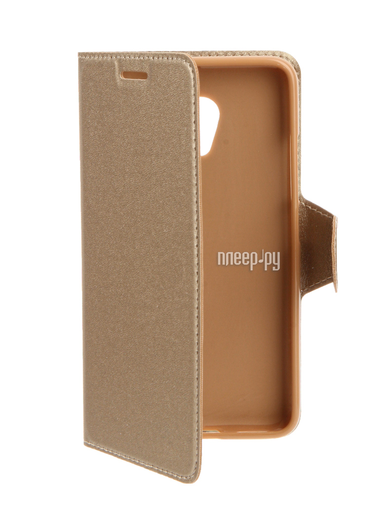 Аксессуар Чехол Meizu M3s mini Red Line Book Type Gold
